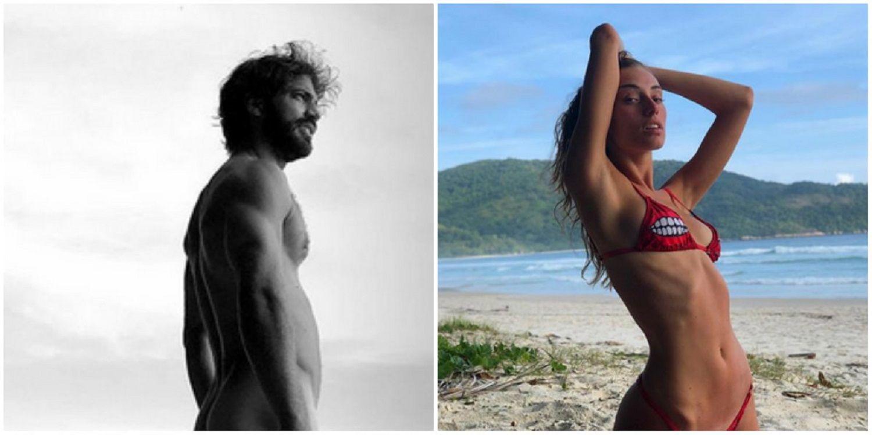 El desnudo de Benjamín Alfonso en las playas de Brasil y una foto provocativa con su novia