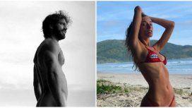El desnudo total de Benjamín Alfonso en las playas de Brasil y una foto provocativa con su novia