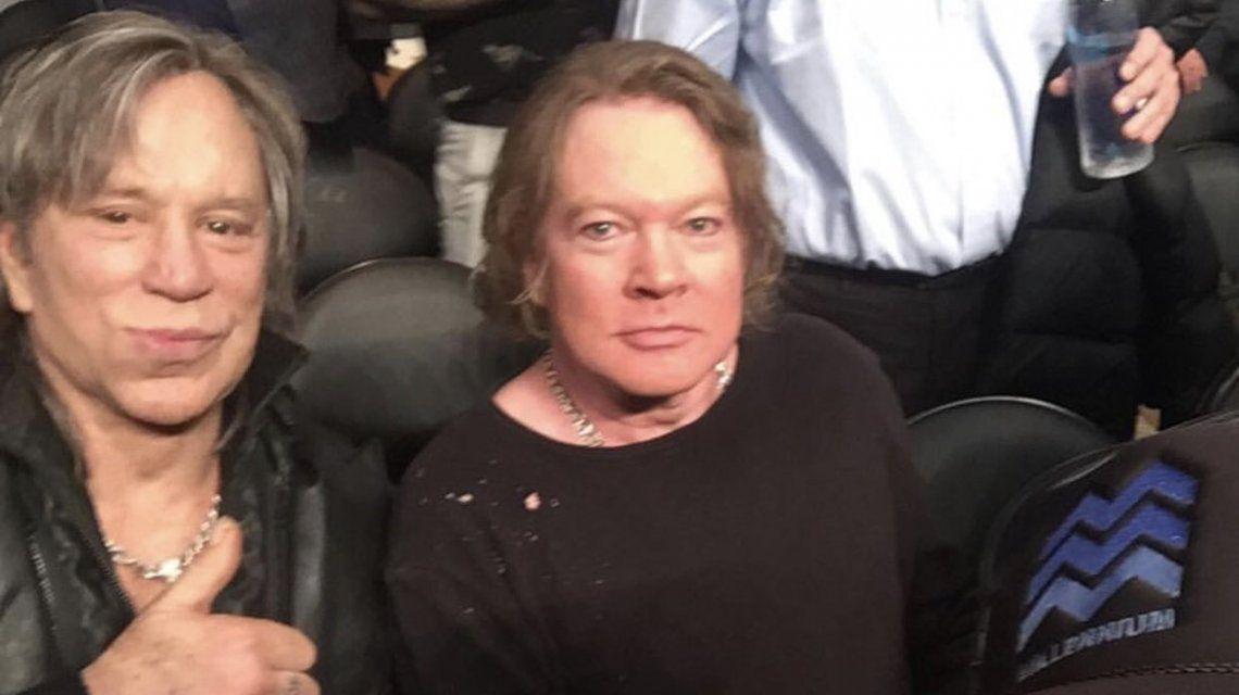 Axl Rose y Mickey Rourke se fotografiaron juntos y estallaron los memes