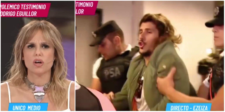Tenso momento en vivo: detuvieron a Rodrigo Eguillor durante un móvil con Mariana Fabbiani