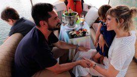 Gonzalo Heredia y Brenda Gandini celebran su amor junto a sus hijos