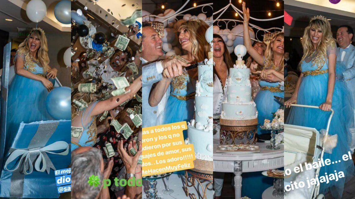 El baby shower de Vicky Xipolitakis ¡con una piñata llena de dólares!