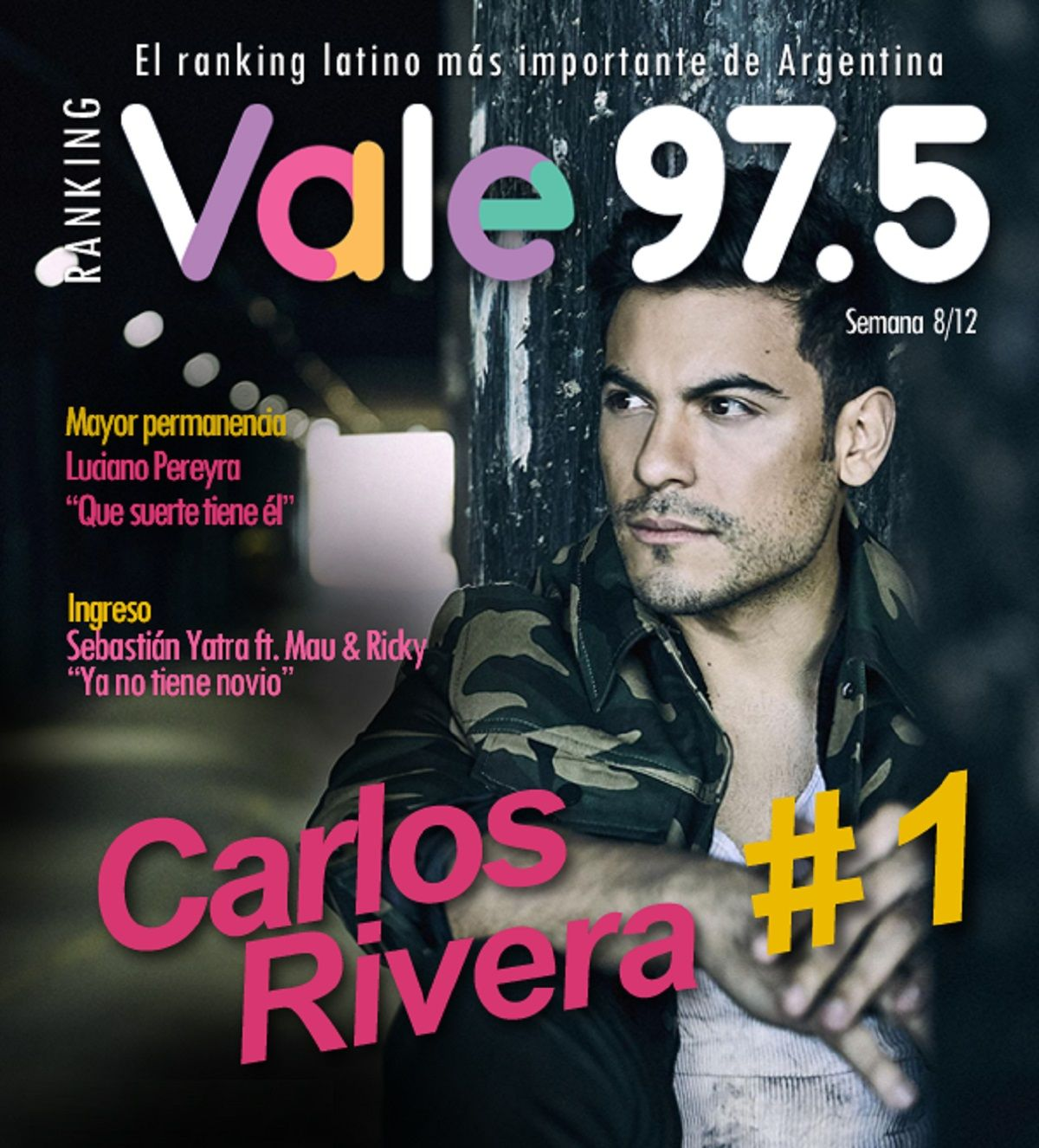 Carlos Rivera, líder absoluto del Ranking Vale