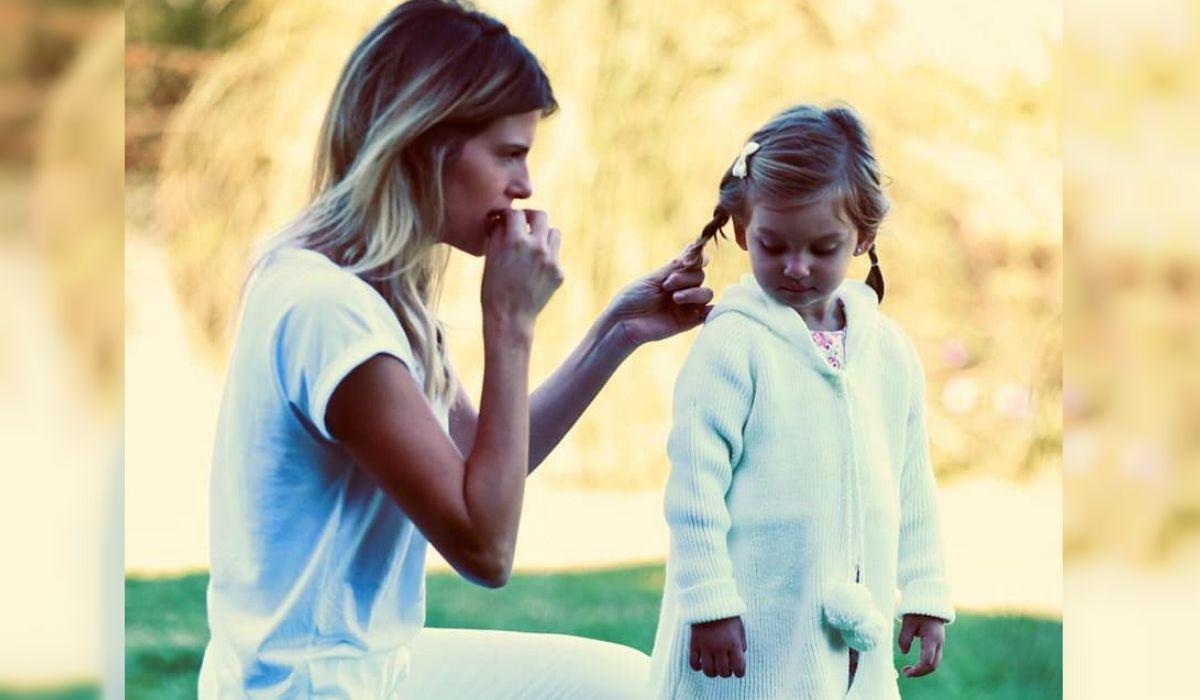 Mery del Cerro junto a su hija Mila