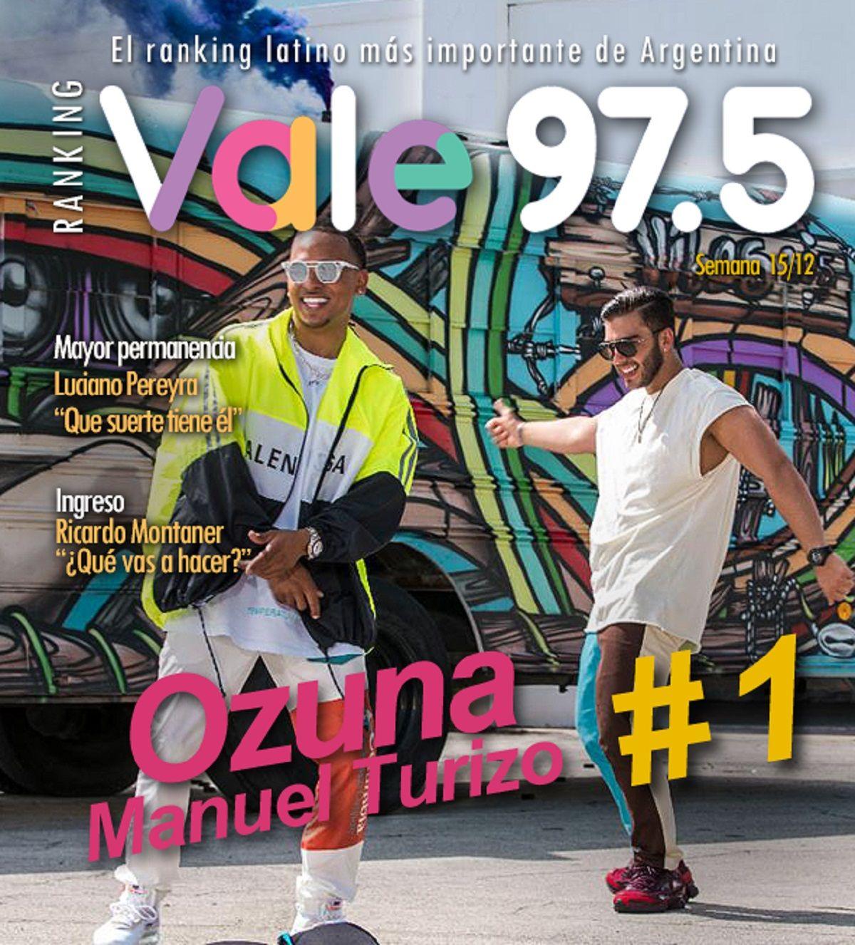 Ozuna y Manuel Turizo llegaron a lo más alto del Ranking Vale