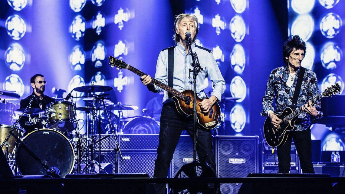 Ringo Starr se sumó a un show de Paul McCartney en Londres