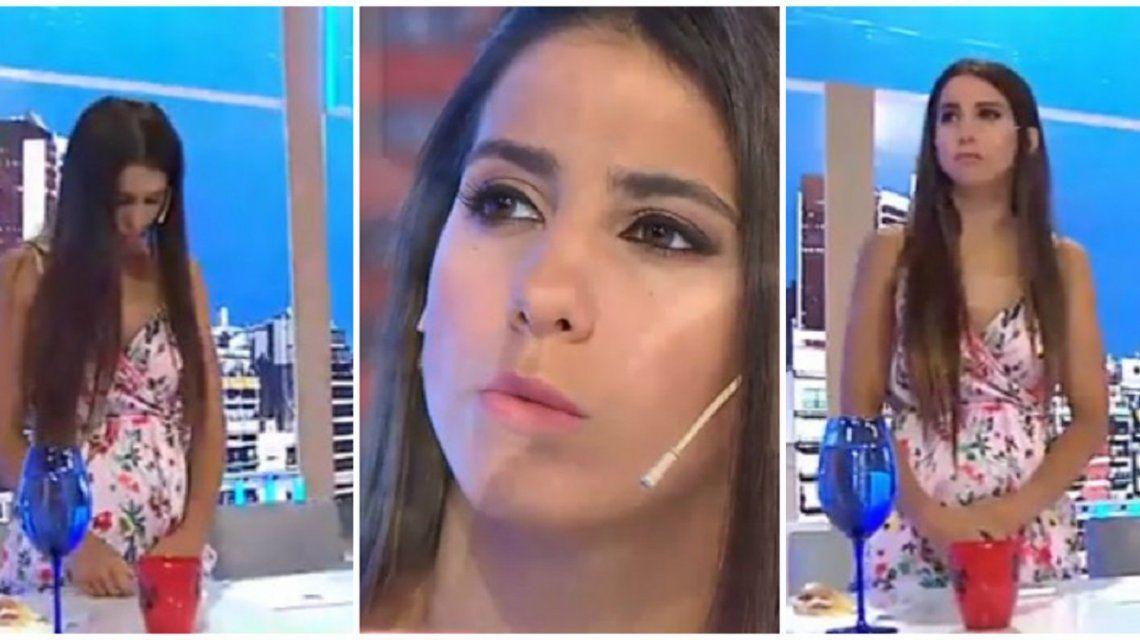 Los elocuentes gestos de Cinthia Fernández tras ser despedida en vivo
