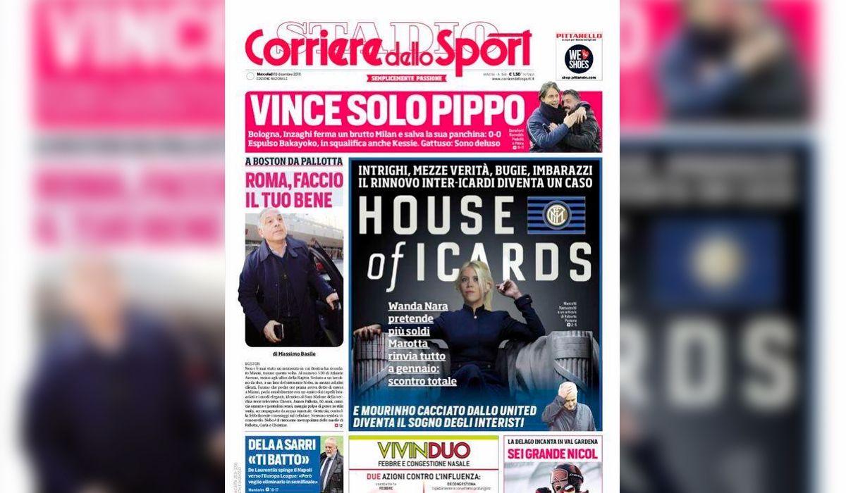 Wanda Nara, en conflicto en Italia: la polémica tapa que le dedicó un famoso diario deportivo