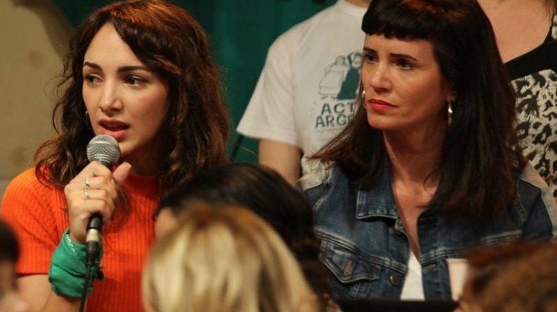 Thelma Fardin y Griselda Siciliani en la conferencia de Actrices Argentinas