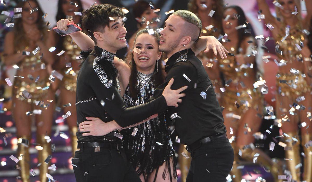 Así fue el alocado festejo de Sofía Morandi y Julián Serrano después de ser campeones del Bailando 2018