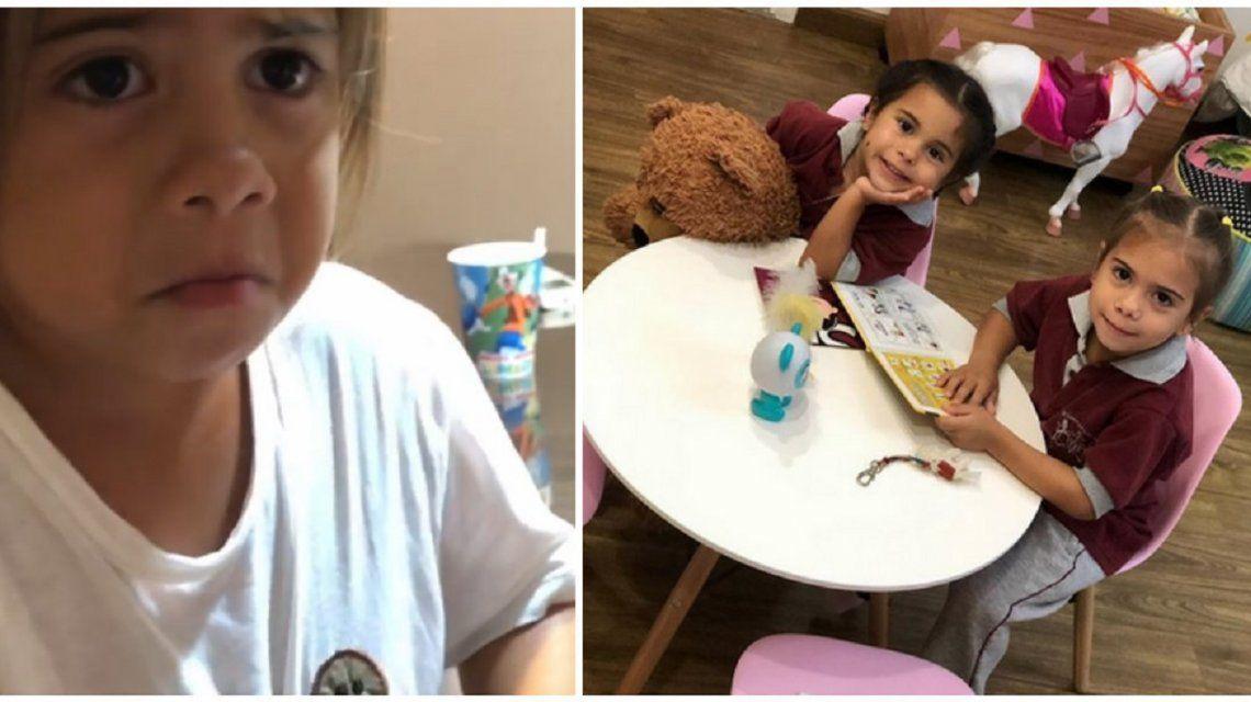 Las hijas de Cinthia Fernández descubrieron que Papá Noel no existe: enojo y llanto