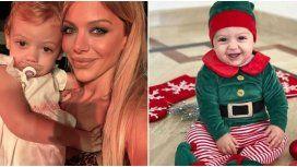 Los tiernos looks navideños de  Emma, la hija menor de Evangelina Anderson