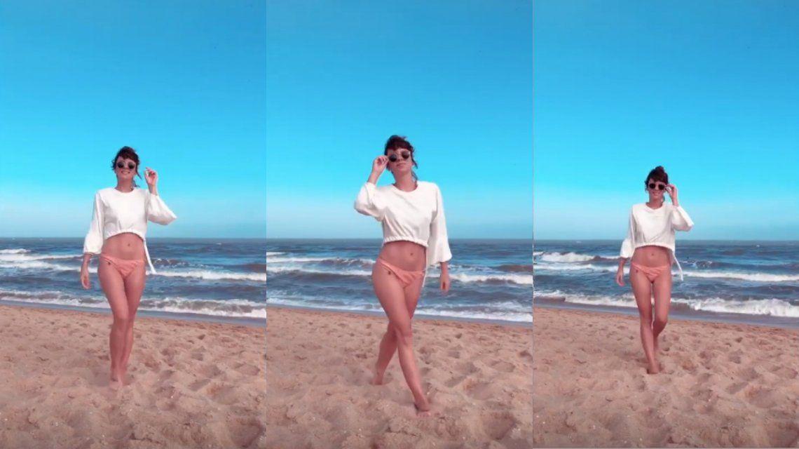 Gime Accardi en las playas de La Pedrera