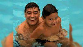 Maradona y su hijo Dieguito Fernando