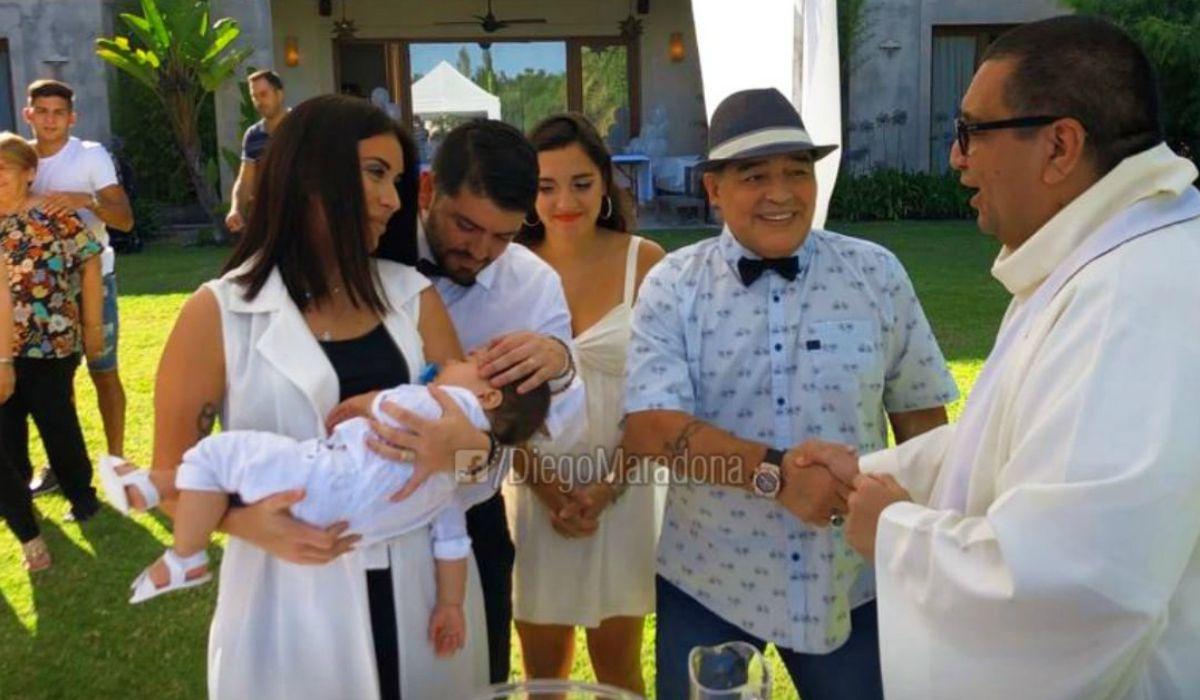 Jana y Diego fueron los padrinos de Diego Matías