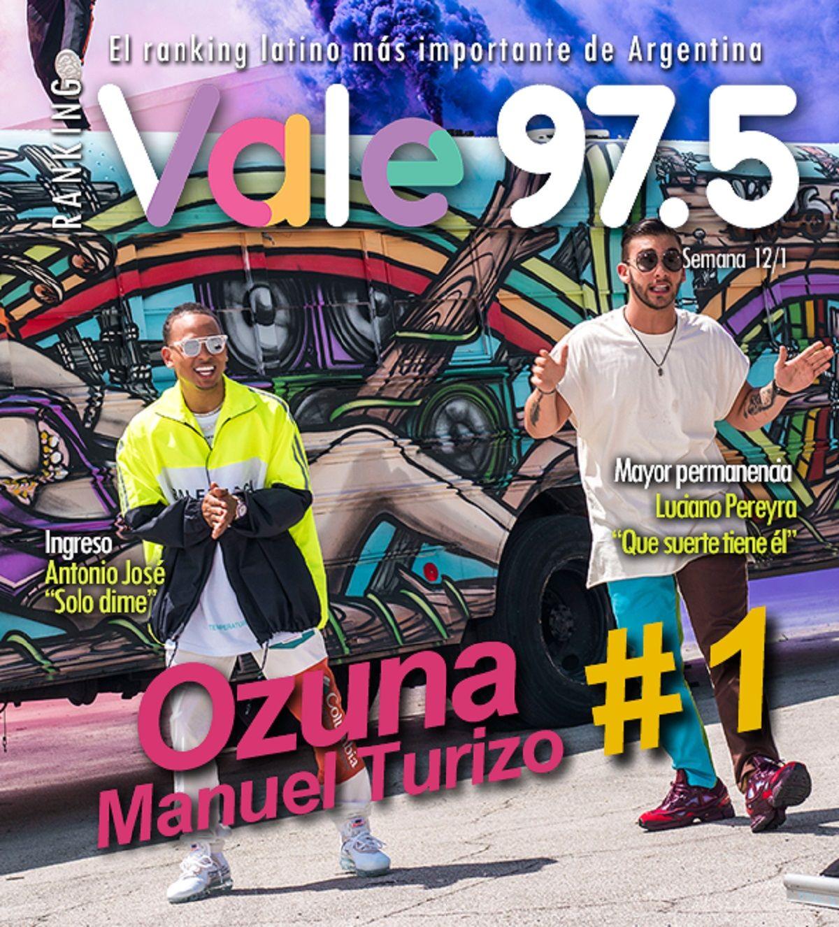 Ozuna continúa en la cima del Ranking Vale