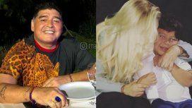La foto familiar de Maradona con un mensaje especial a Dieguito