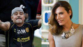 Diego Maradona discriminó a Flor de la V y la invitó a jugar un partido de fútbol