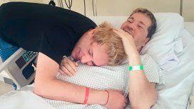 Tomasito junto a Guido en la clínica