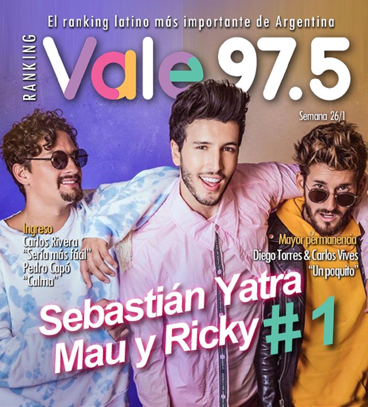 Sebastián Yatra llegó a la cima del Ranking Vale