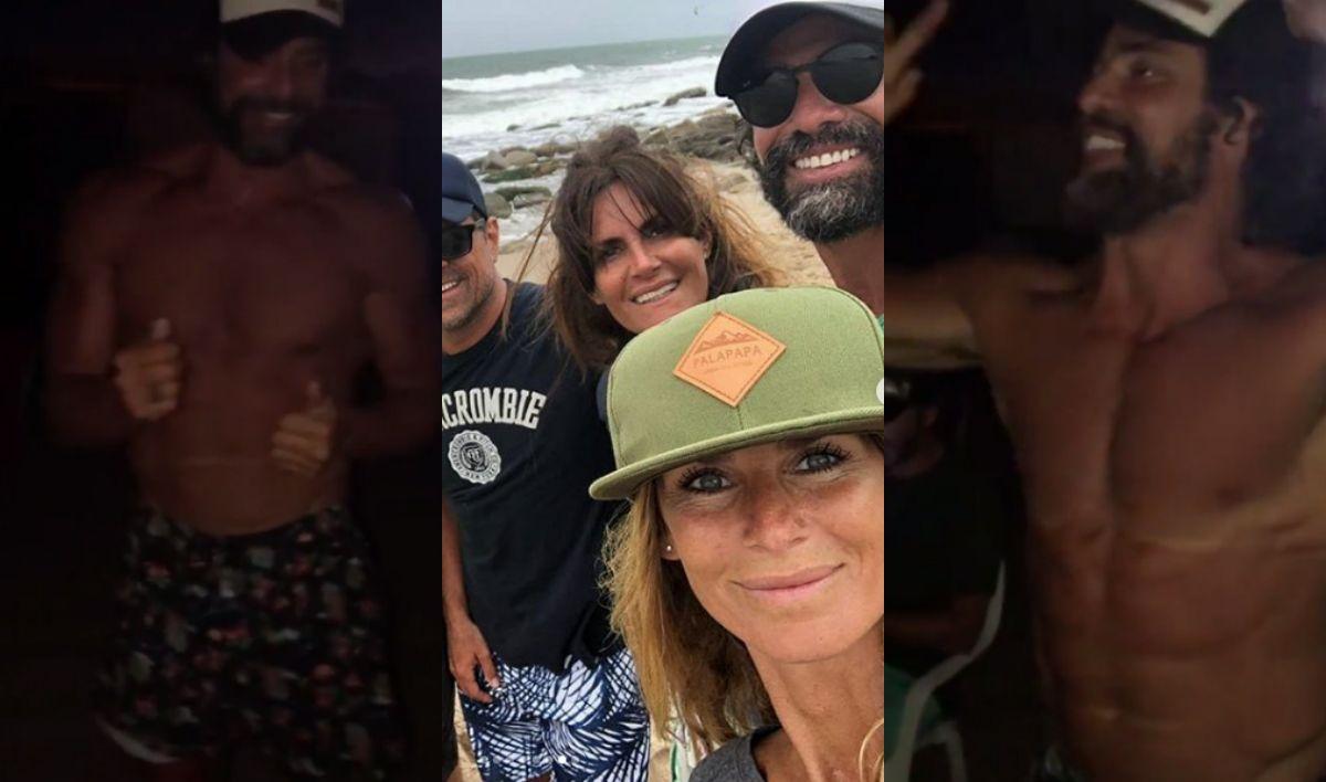 La noche de fiesta de Sabrina Rojas y Luciano Castro en la playa