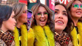 Video: la reacción de Lali Espósito con la sorpresa de Lindo pero bruto en Times Square