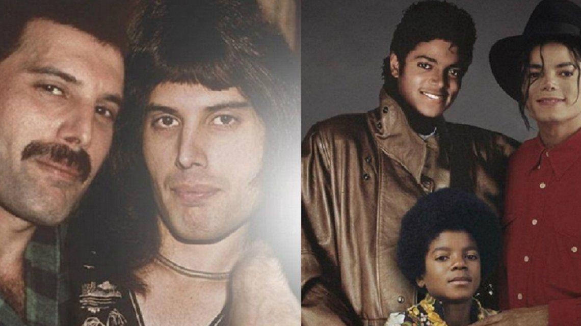 El diseñador que crea fotos con el antes y después de famosos cantantes