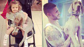 Mauro Icardi y Wanda Nara, dolidos por la muerte de su perro Coco