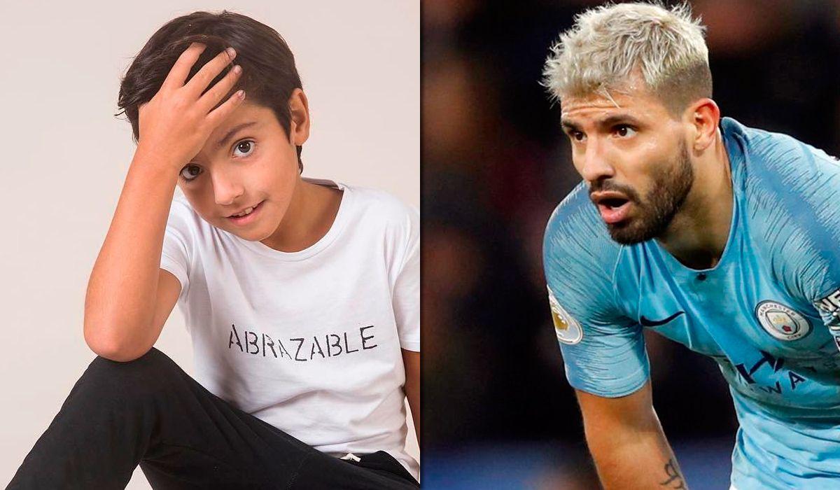 El hijo de Gianinna Maradona y el Kun Agüero se tiñó como su padre