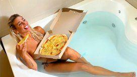 La llamativa pizza de Sol Pérez