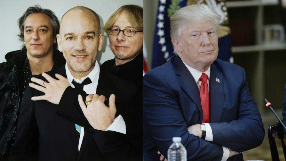 R.E.M. consiguió callar a Donald Trump