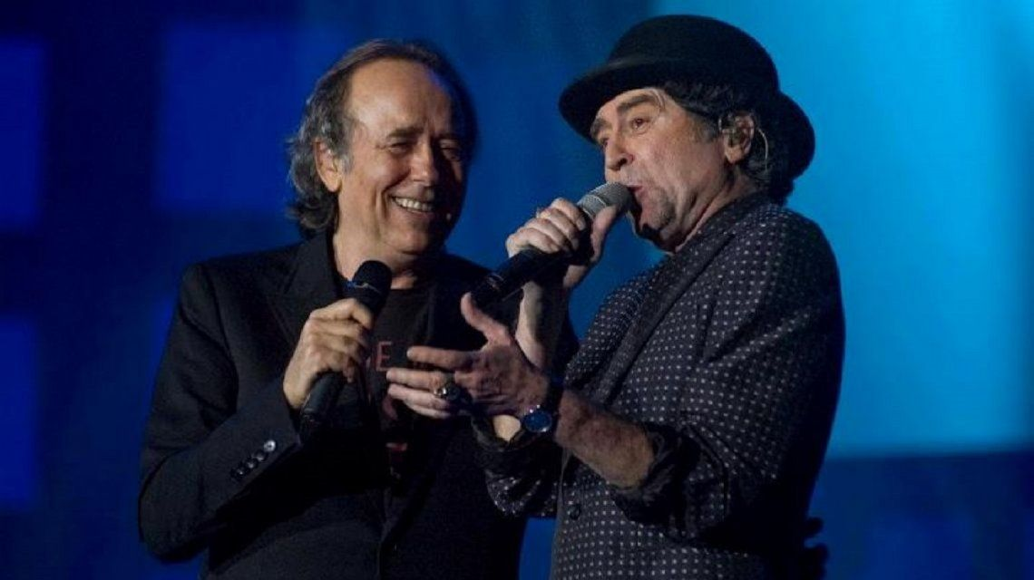 Joan Manuel Serrat y Joaquín Sabina vuelven a cantar juntos en Argentina
