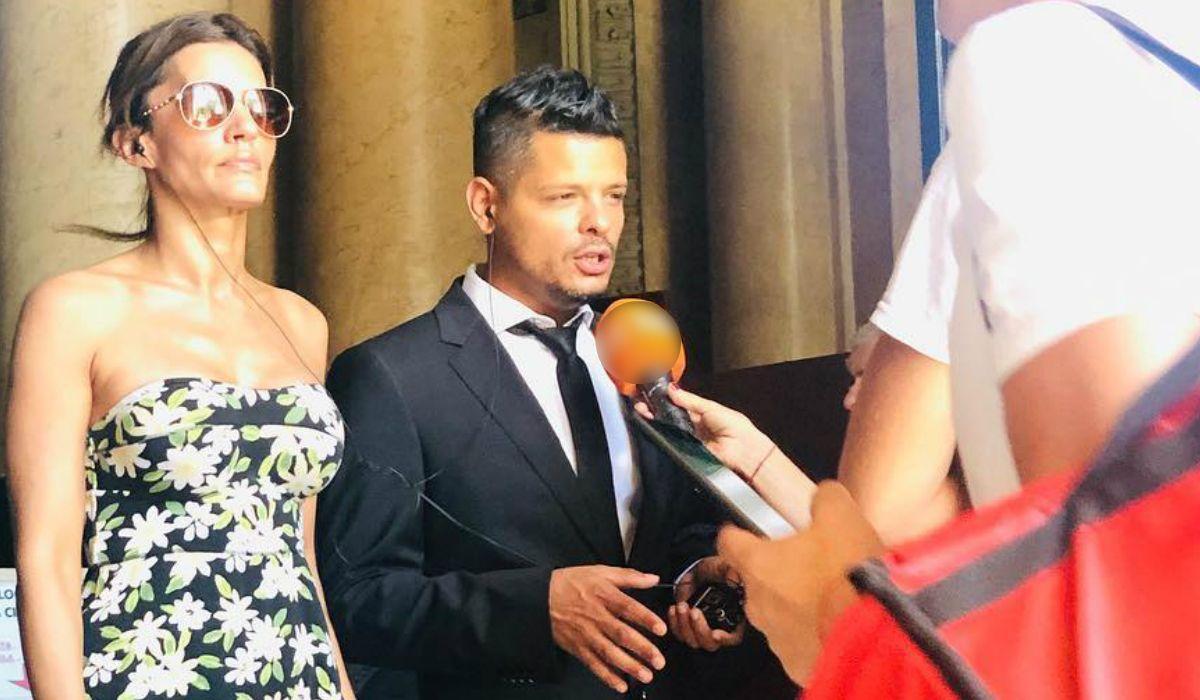 Natacha junto a su abogado Alejandro Cipolla