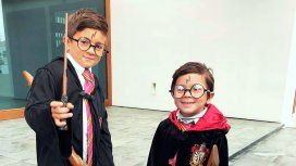 Thiago y Mateo como Harry Potter