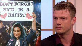 Nick Carter es violador: el cartel en el recital de Backstreet Boys que generó amenazas de muerte