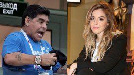 Diego Maradona le dio la bienvenida a Roma con una foto de Dalma de bebé