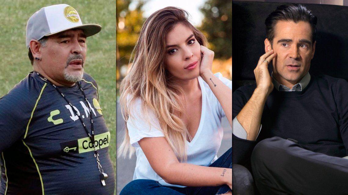 Dalma Maradona reveló cómo fue el insólito encuentro entre Diego y Colin Farrell