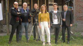 El elenco de Puerta 7. Crédito: Alejandro Lipszyc/Netflix