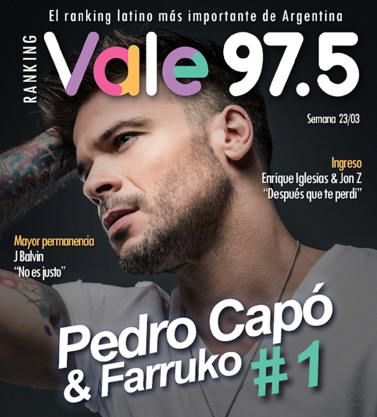 Pedro Capó y Farruko siguen arriba en el Ranking Vale