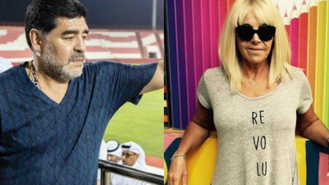 Claudia Villafañe le inició una contrademanda a Diego Maradona en Estados Unidos