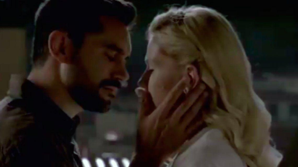 El primer beso de Aldo y Raquel