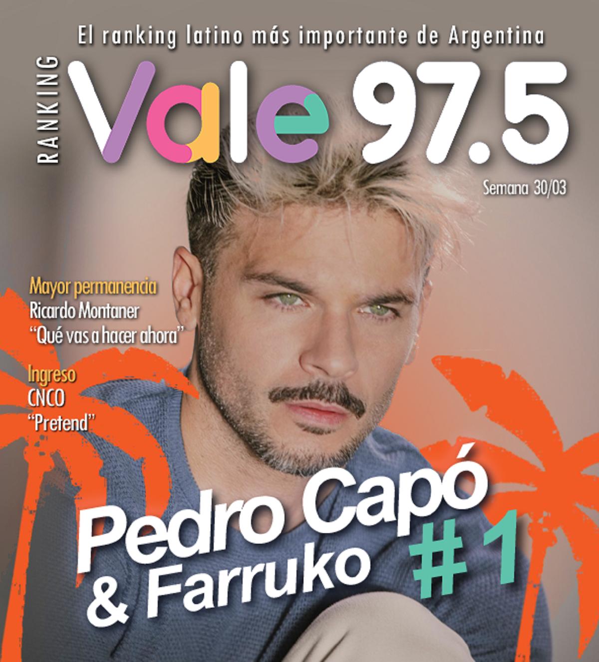 Calma de Pedro Capó y Farruko sigue en lo alto del Ranking Vale
