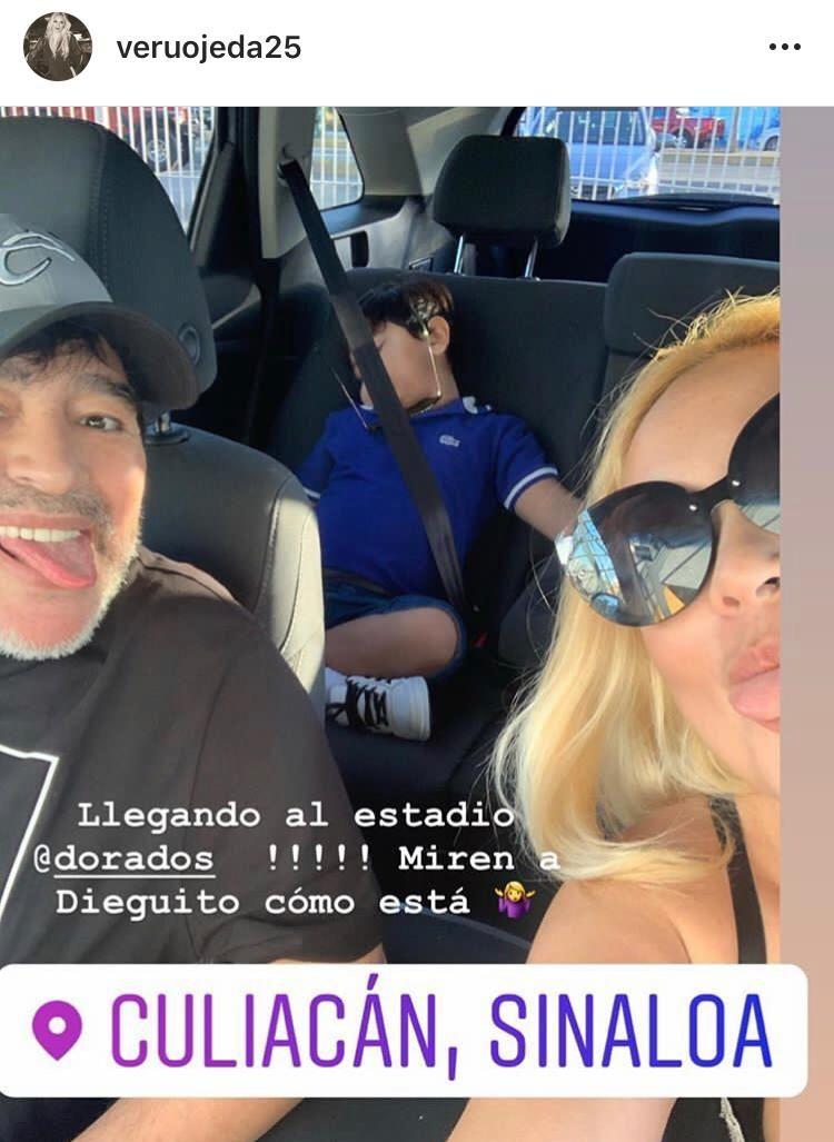Otra vez juntos: la foto de Diego Maradona y Verónica Ojeda en México