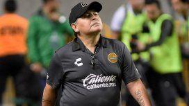La foto de Maradona con Dieguito Fernando mientras Gianinna lo criticaba en la TV