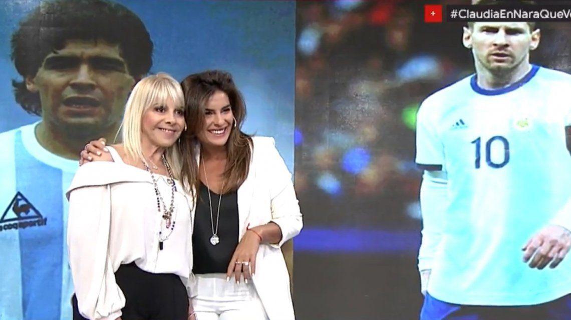Claudia Villafañe tuvo que elegir: ¿Diego Maradona o Lionel Messi?