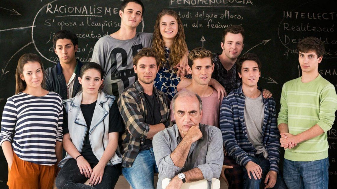 Reunión cumbre de dos actores de Merlí en Buenos Aires