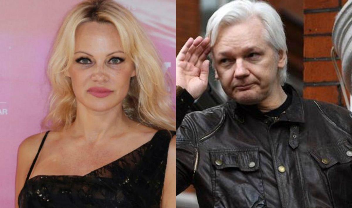 Furioso descargo de Pamela Anderson por la detención de Julian Assange