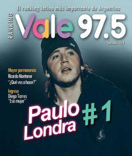 Paulo Londra, líder del Ranking Vale