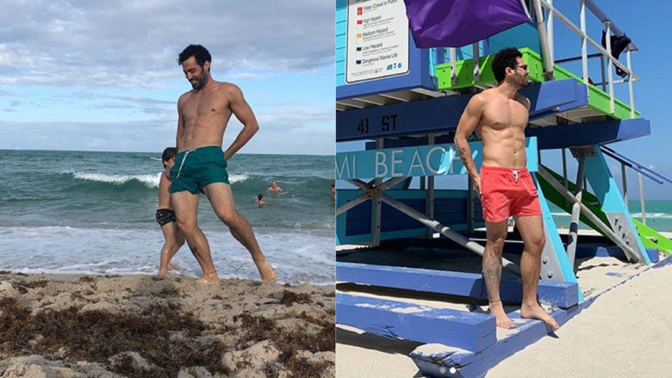 Mauro Caiazza posó en la playa y su malla fue comentario en las redes sociales