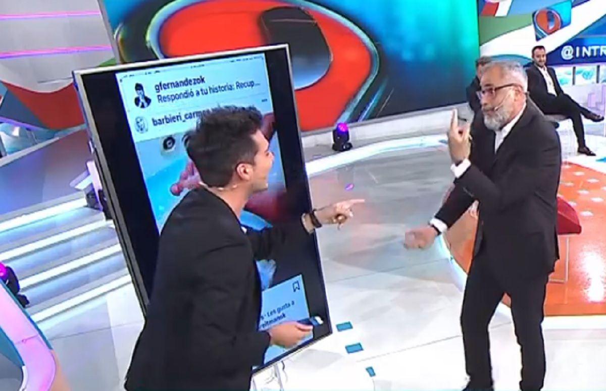 El blooper de Jorge Rial en Intrusos cuando Loly Antoniale apareció en pantalla